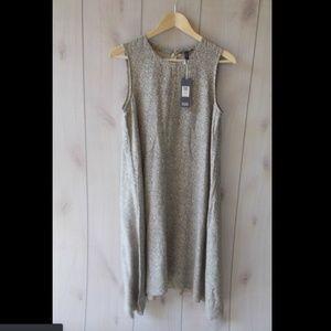 Eileen Fisher Chevron Hanky Hem Knee Length Dress